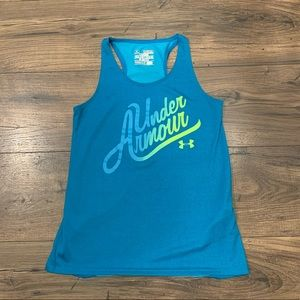 Under Armour Like New Teal Girls Tank M 10 / 12